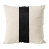 This item: White and Black Bold Center Stripe Velvet Accent Pillow