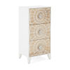 This item: Marigold White and Beige Carved Cabinet