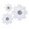 This item: Loraine White and Gray Wall Flower, Set of 3