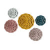This item: Finley Multicolor Dimensional Flower Wall Décor, Set of 5