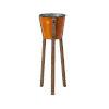 This item: Framstead Orange Medium Standing Planter