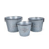 This item: Marin Gray and Black Round Planter, Set of 3
