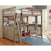 This item: Highlands Driftwood Full Loft Bed with Desk