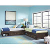 This item: Pulse Chocolate L-Shaped Bed with Double Storage