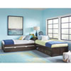 This item: Pulse Chocolate L-Shaped Bed with Storage and Trundle