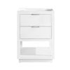 This item: White 24-Inch Allie Bath Vanity Cabinet with Silver Trim