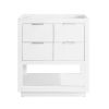 This item: White 30-Inch Allie Bath Vanity Cabinet with Silver Trim