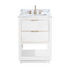 This item: White 25-Inch Bath vanity with Gold Trim and White Marble Top