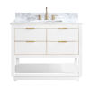This item: White 43-Inch Bath vanity with Gold Trim and Carrara White Marble Top