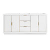 This item: White 72-Inch Bath Vanity Cabinet with Gold Trim