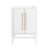 This item: White 24-Inch Mason Bath vanity Cabinet with Gold Trim