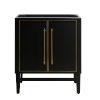 This item: Black 30-Inch Bath vanity Cabinet with Gold Trim
