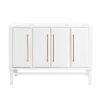 This item: White 48-Inch Bath vanity Cabinet with Gold Trim
