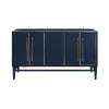 This item: Navy Blue 60-Inch Bath vanity Cabinet with Gold Trim