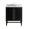 This item: Black 31-Inch Bath vanity Set with Silver Trim and Carrara White Marble Top