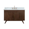 This item: Taylor Brown Teak 49-Inch Bathroom vanity with Carrara White Marble Top