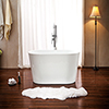 This item: Lola 53-inch Free Standing Acrylic Soaking Tub with Center Drain, Pop-up Drain, and Overflow