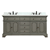 This item: Hastings 73 inch Double Sink Vanity in French Gray finish with Carrera White Marble Top