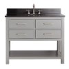 This item: Brooks Chilled Gray 42-Inch Vanity Combo with Black Granite Top