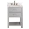 This item: Brooks Chilled Gray 24-Inch Vanity Only