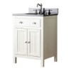 This item: Hamilton French White 24-Inch Vanity Combo with Black Granite Top