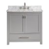 This item: Modero Chilled Gray 36-Inch Vanity Only