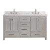 This item: Modero Chilled Gray 60-Inch Double Vanity Only
