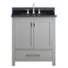 This item: Modero Chilled Gray 30-Inch Vanity Combo with Black Granite Top