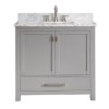 This item: Modero Chilled Gray 36-Inch Vanity Combo with White Carrera Marble Top