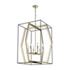 This item: Mixed Geometries Oil Rubbed Bronze and Antique Silver Leaf Eight-Light Pendant