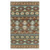 This item: Alejandra Brown and Blue 5 Ft. x 7 Ft. 9 In. Area Rug