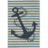 This item: Amalie Light Blue Anchor Rectangular: 3 Ft.6 In. x 5 Ft.6 In. Rug
