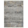 This item: Eddison Gray and Black 3 Ft. 11 In. x 5 Ft. 3 In. Area Rug