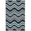 This item: Puerto Navy Wave Rectangular: 7 Ft.2 In. x 10 Ft.5 In. Rug