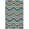 This item: Puerto Light Blue Wave Rectangular: 5 Ft. x 7 Ft.6 In. Rug