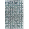 This item: Radiance Blue and Silver 8 Ft. x 10 Ft. Area Rug