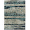 This item: Zuma Beach Blue Wave Rectangular: 3 Ft.11 In. x 5 Ft.3 In. Rug