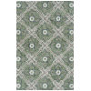 This item: Peranakan Tile Sage and Ivory 9 Ft. 6 In. x 13 Ft. Indoor/Outdoor Rug