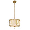 This item: Lemuria Distressed Gold Two-Light Pendant