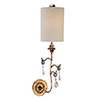 This item: Tivoli Cream Patina and Gold One-Light Wall Sconce