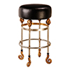 This item: Armory Chrome and Gold 26-Inch Bar Stool with Black Seat