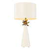 This item: Neo French White and Gold Leaf One-Light Table Lamp