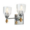 This item: Fun Finial Polished Chrome Gold Accent Two-Light Wall Sconce