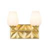 This item: Epsilon Antique Brass Two-Light Bath Vanity