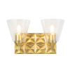 This item: Alpha Antique Brass Two-Light Wall Sconce