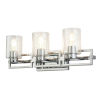 This item: Estes Polished Chrome Three-Light Bath Vanity