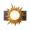 This item: Soleil Weather Zinc Gold Leaf with Antique One-Light LED Wall Sconce
