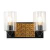 This item: Arcadia Matte Black Bronze Two-Light Bath Vanity