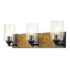 This item: Arcadia Matte Black Bronze Three-Light Bath Vanity