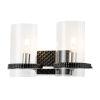 This item: Mazant Polished Chrome Black Two-Light Bath Vanity